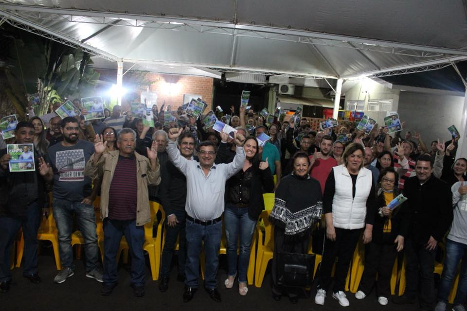Michele Caputo recebe apoio de lideranças de Foz do Iguaçu
