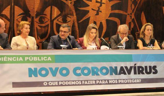 Ações de prevenção ao Novo Coronavírus são discutidas em audiência pública