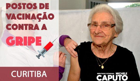 Curitiba: Veja locais de vacinação contra a Gripe